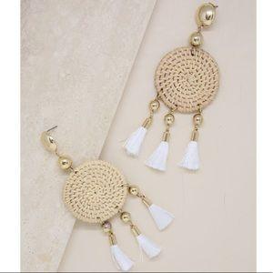 Jewelry - NEW 18kt Gold Boho Tassel Earrings